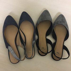 2 pairs Gap flats size 8